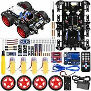 Smart Robot Car Kit For Arduino 4wd Remote Control Car With Obstacle Free Ship