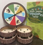The Sneaky Snacky Squirrel Game Replacement Spin Board, 4 Bowls And Instructions