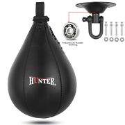 Boxing Speed Bag Cowhide Leather Mma Punching Focus Bag Muay Thai Training Speed