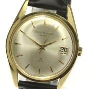 Girard Perregaux Gyromatic Antique Date Automatic K18yg Leather Men's Watch