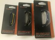Replacement Band For Fitbit Flex 2 Black Dark Blue Blue With Yellow Lot Of 3