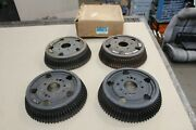 1963-1964 Corvette Z06 Front And Rear Finned Brake Drums J56 Nos 3841825 3841832