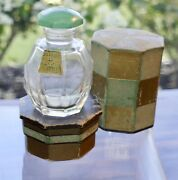 Jodelle Parfum Empty Bottle Box Green Stopper Collectible And Rare C.1926-27