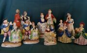Lot Of 9 Made In Occupied Japan Figurines Vintage Colonial About 4 To 8