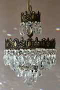 Vintage Crystal Chandelier In Antique French Style For Home And Living Decoration