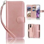 Double Layer Wallet Card Flip Leather Case For Samsung Galaxy S9 S10 S20 Plus
