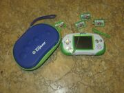 Leapster Explorer Learning Game System Green W/4 Games And Case