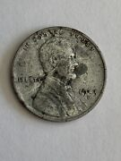 1943 D Steel Lincoln Wheat Penny / Cent
