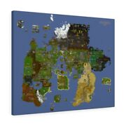 Old School Runescape World Map Canvas W Map Markers - Complete 2007 Rs Wall Art