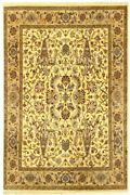 8x10 Indian Hand Knotted Carpet Floral Design Gold Rug Handmade Home Area Rugs