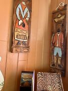 🔥witco Tiki Vintage King And Queen Panels Rare Very Large