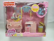 New Fisher Price Loving Family Dollhouse Deluxe Nursery Sweet Sounds Bear 2003