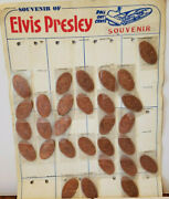 29 Elvis Presley Roll Out Cent Pressed Rolled Elongated Penny Pennies Souvenir