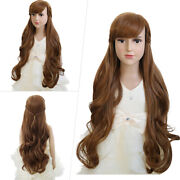 Cosplay Wig Frozen 2 Princess Anna Curly Wavy Fashion Synthetic Brown Wig Party