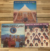 Earth Wind And Fire 3 Record Set. Vinyl Records Open Our Eyes And More