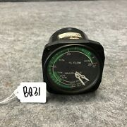 United Instruments Aircraft Dual Fuel Flow Indicator Gauge P/n 6221