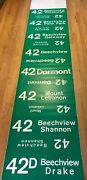 Vintage Pittsburgh Lrv Pcc Trolley Roll Sign Drake Overview Beechview