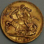 Great Britain Gold Sovereign 1912 George V London Mint Km 820 R351-l