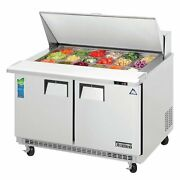 Everest Epbr2 47 Two Section Mega Top Sandwich Prep Table 18 Pan
