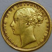 Great Britain Gold Sovereign 1872 Victoria London Mint Km 752 H+006