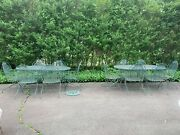14pc.rose Of Sharon Wrought Iron Patio Tables 12 Springy Chairs/pickup 08534