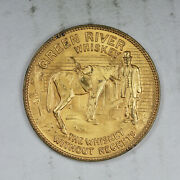 Itand039s Lucky To Drink Green River Whiskey Token Higher Grade Free Shipping