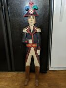 Awesome Antique Hand Carved Hand Painted Carnival Display