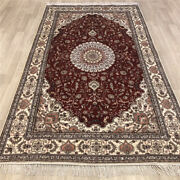 Yilong 5and039x8and039 Red Home Decor Classic Silk Rug Classic Hand Knotted Carpets 482c