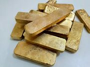 900 Grams Scrap Gold Bar For Gold Recovery Melted Different Computer Coin Pins