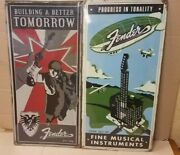 Pick Your Fender Guitars Rust Treated Metal Tin Sign New Discontinued Rare