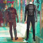 The Falcon And The Winter Soldier Bucky Barnes Cosplay Costume Leather Suit Lot