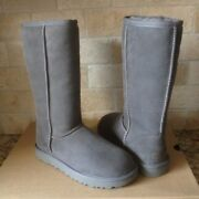 Ugg Classic Tall Ii 2.0 Gray Grey Water-resistant Suede Boots Size Us 6 Womens