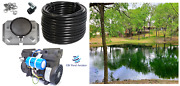 Large Pond Aerator System W/50' Wtd Hose-weighted Diffuser New 1/2hp Pump Qs1