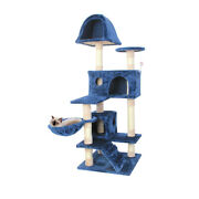 51and039and039 New Blue Cat Tree Pet Furniture Scratch Post Tower Condo Play House Toy