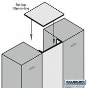 Flat Top Filler - In-line - 15 Inches Wide - For 18 Inch Deep Designer Wood Lock