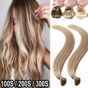 Us 100s 200s Thick Russian Remy Stick I Tip Human Hair Extensions Balayage T639