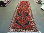 3and039 7 X 12and039 Antique Hand Made Turkish Anatolian Wool Runner Rug 105