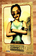 Tomb Raider 4 The Last Revelation Game Store Promo Poster Ps1 Rare Collectible
