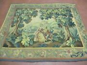 5and039 X 6and039 Antique Tapestry French Hand Made Aubusson Weave Nature One Of A Kind