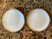 Signed Early 1950s Frans Wildenhain Mint Pair Brauhaus Pottery Plates Rochester