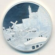 The Holy Land Mint Jerusalem Of Gold-view Of City-1 Oz 999 Silver-ships Free