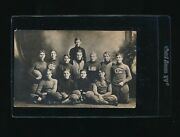 1911 Real Photo Post Card Rppc Football Team Gates Academy Unmarked Incredible