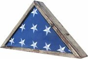 Rustic Burial/memorial Flag Display Case For 5and039x9.5and039 Folded Casket Flag
