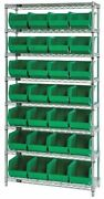 Quantum Storage Systems Wr8-239gn 36 In W, 28 No. Of Bins, Green