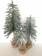 Pottery Barn Kids Snow Faux Trees Set Of 3 New Sold Out At Pottery Barn Kids