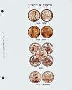 Lincoln Cent 1909-2009 Cdi Insert And Data Pages Fits Dansco 7100