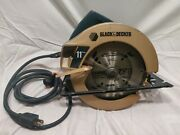 Vintage Black And Decker Corded Circular Saw 7360 Type1-11 Amp, Works, Strong.