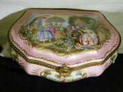 Sevres C1700 Large Decorative Hand Painted By J.vaneu Jewelry Box