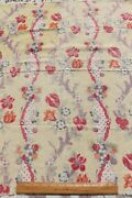 Rare C1928-1936 French Antique Linen Home Dec Fabricindienne Style33x31