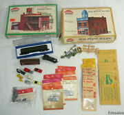 N-scale Toy Train Engine Cars Model Power Buildings Detail Accessories